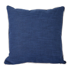 Prussian with White Flange Colorblock Pillow