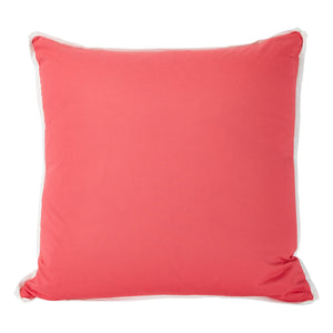 Punch with White Flange Colorblock Pillow