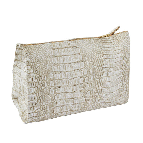 Sarah Croc Make Up Bag