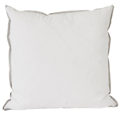 White with Danish Flange Euro Pillow