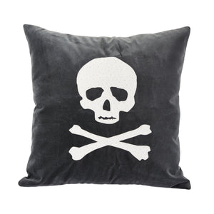 Skull Applique Pillow