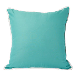 Spa with White Flange Colorblock Pillow