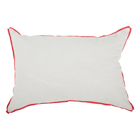 White with Punch Flange Oversized Pillow