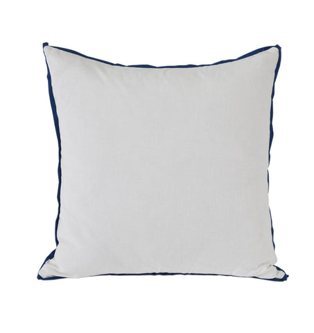 White with Prussian Flange Euro Pillow