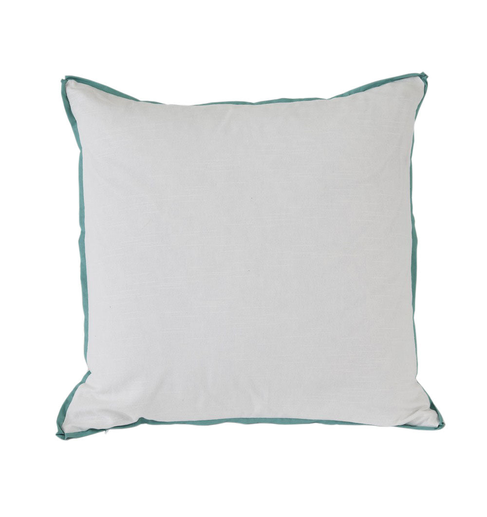 White with Spa Flange Euro Pillow