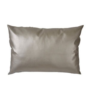 Metallic Leather Oversized Pillow