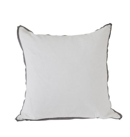 White with Pewter Flange Euro Pillow