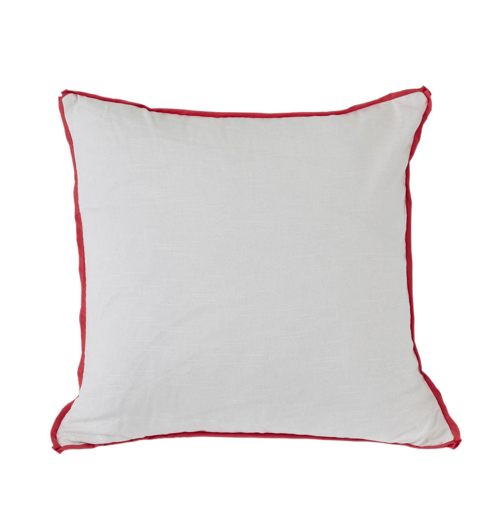 White with Punch Flange Euro Pillow