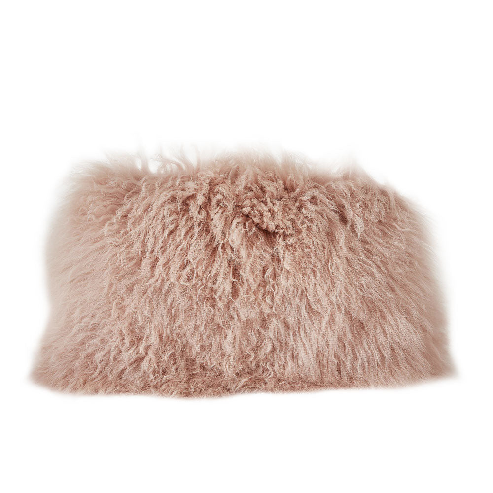 Blush Fur Lumbar Pillow
