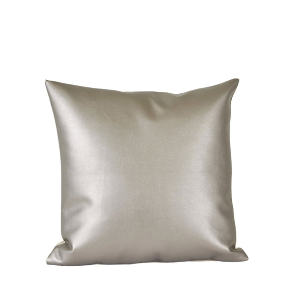 Metallic Pewter Pillow