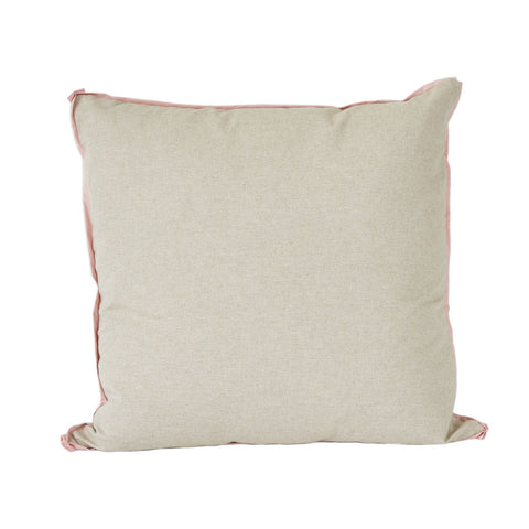 Danish with Blush Flange Euro Pillow