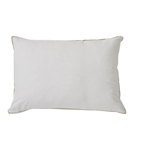 White with Danish Flange Oversized Pillow