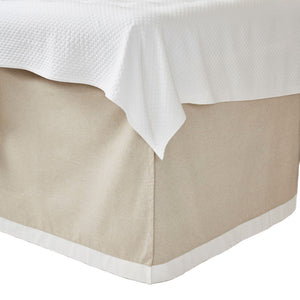 Danish with White Band Bedskirt