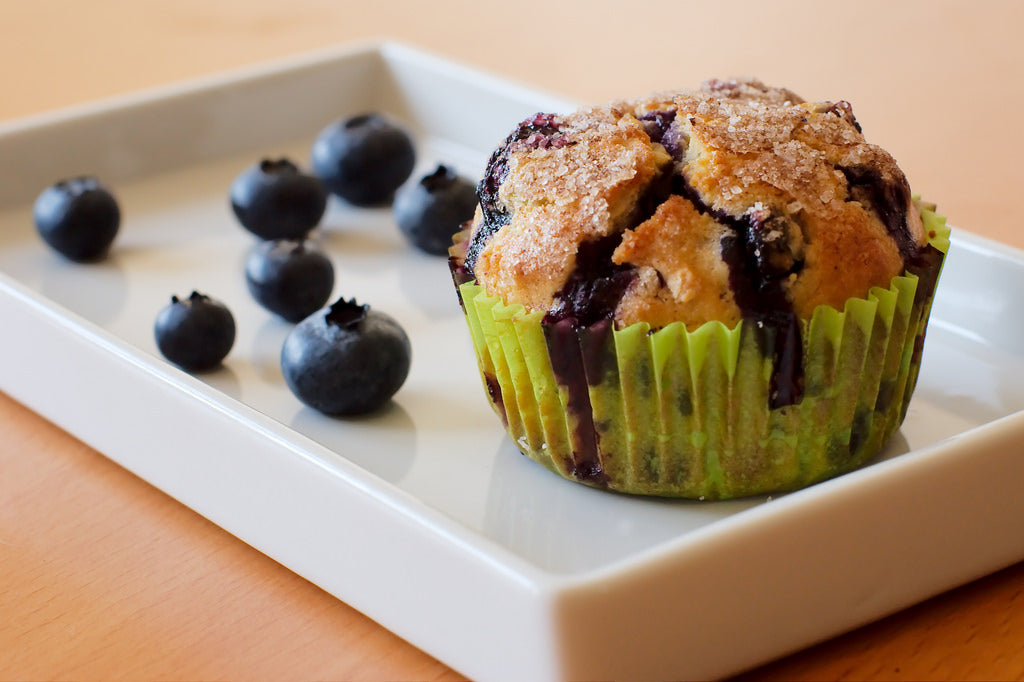 Blueberry and Lemon Olive Oil Muffins