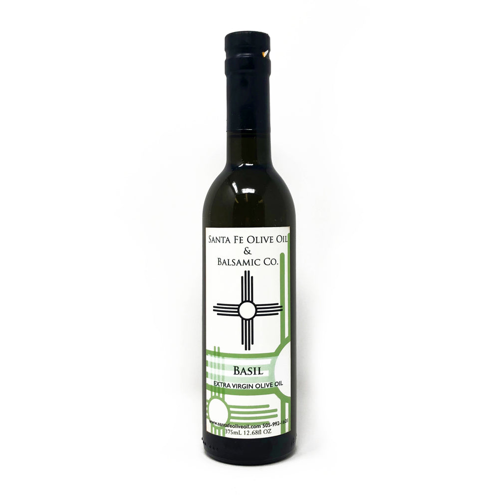 Santa Fe Olive Oil & Balsamic Co. New Mexico basil extra virgin olive oil spain