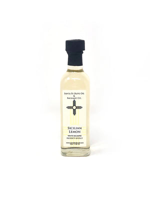 Santa Fe Olive Oil & Balsamic Co. New Mexico Sicilian Lemon White Balsamic Vinegar Italian Italy