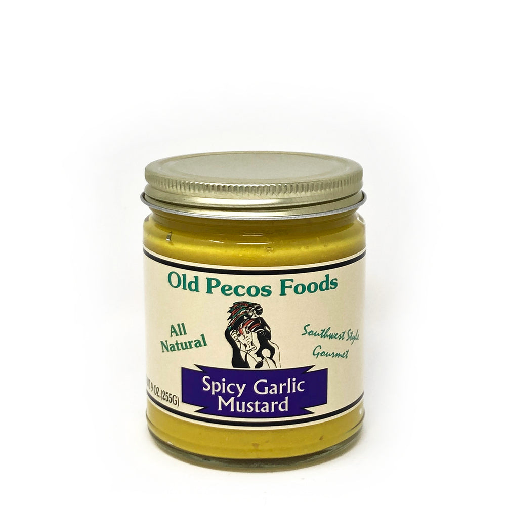Santa Fe Olive Oil & Balsamic Co. New Mexico Spicy Garlic Mustard Old Pecos Foods Gift