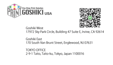 business card print with qr code
