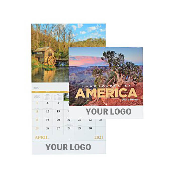 Landscapes Calendar - Stapled type 150 units~