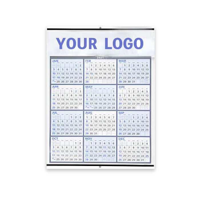 Two-Color Span-A-Year Wall Calendar 50 units~