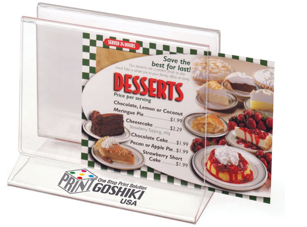 "Tabletop Menu Holder -Restaurants and Bars 7"" x 5"""