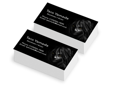 Business card promotion for local customer only. Irvine California 250 for 9.99