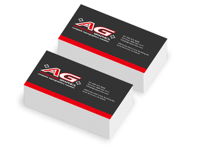 business cards print size color