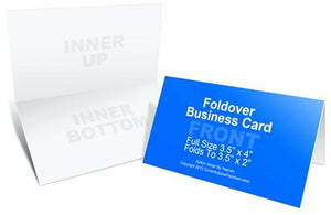 Fold Over Business Card (Stamp Card)