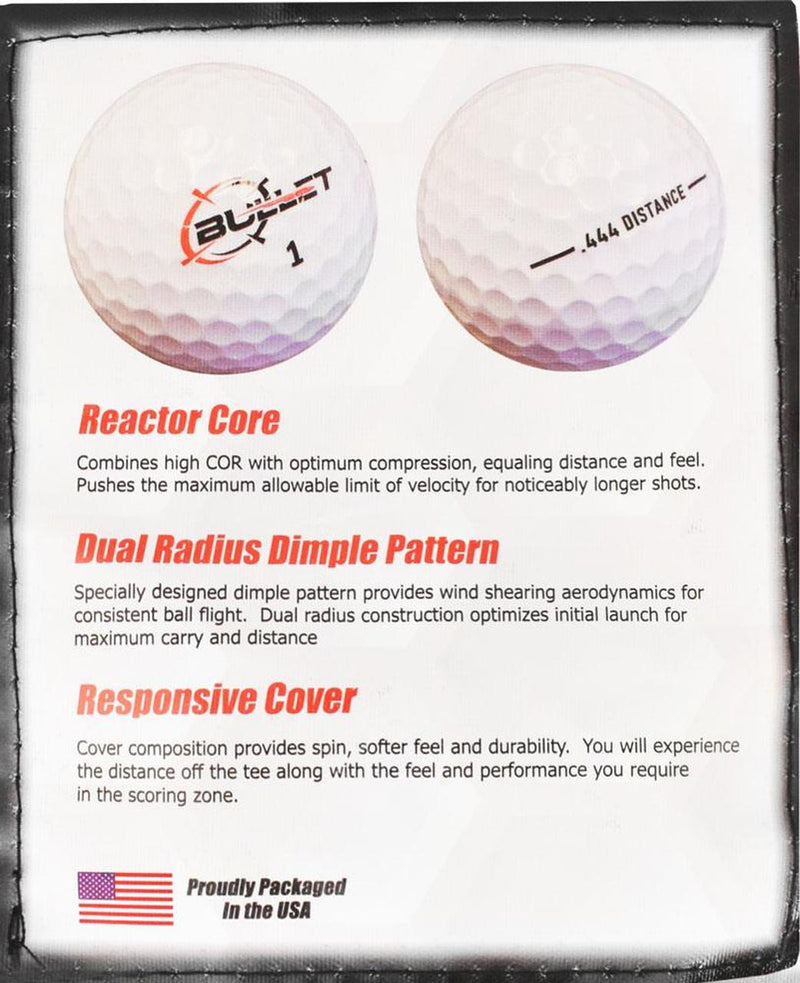 Bullet .444 Distance Golf Balls *30-Ball* LOGO ONLY