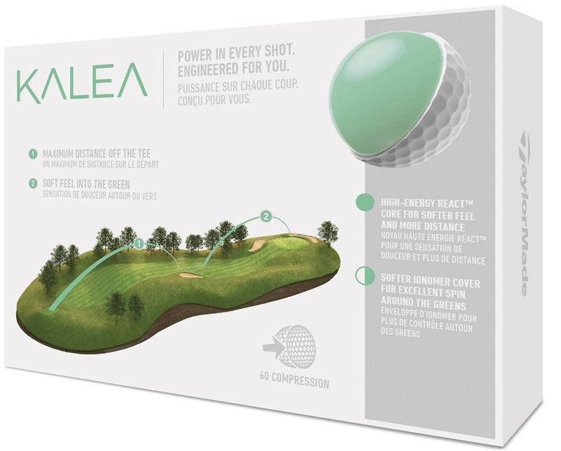 TaylorMade Ladies Kalea Golf Balls LOGO ONLY - One Dozen