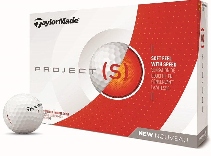 TaylorMade Project (s) Golf Balls LOGO ONLY - One Dozen