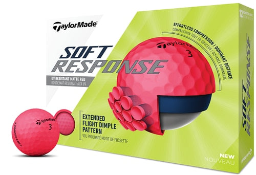 TaylorMade Soft Response Golf Balls LOGO ONLY - One Dozen