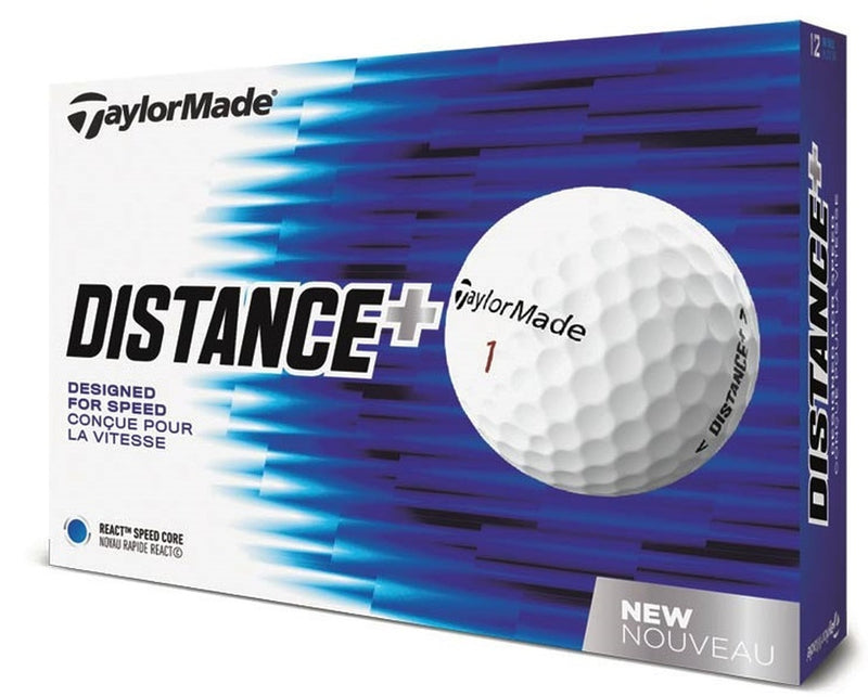 TaylorMade TM Distance + Golf Balls LOGO ONLY - One Dozen