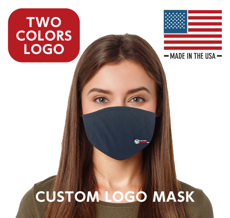 Washable, Reusable Face Mask (2 COLORS Custom LOGO) 150 units ~