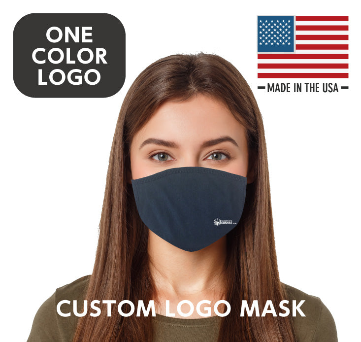 Washable, Reusable Face Mask ( 1 COLOR Custom LOGO) 30 units~