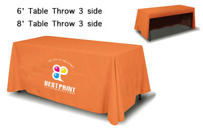 3 sides Table Throw custom print