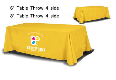 4 sides Table Throw custom print