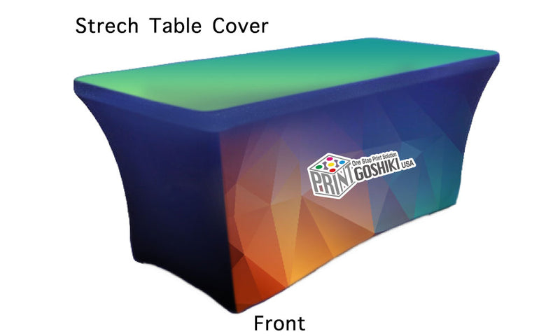stretch Table Throw custom print