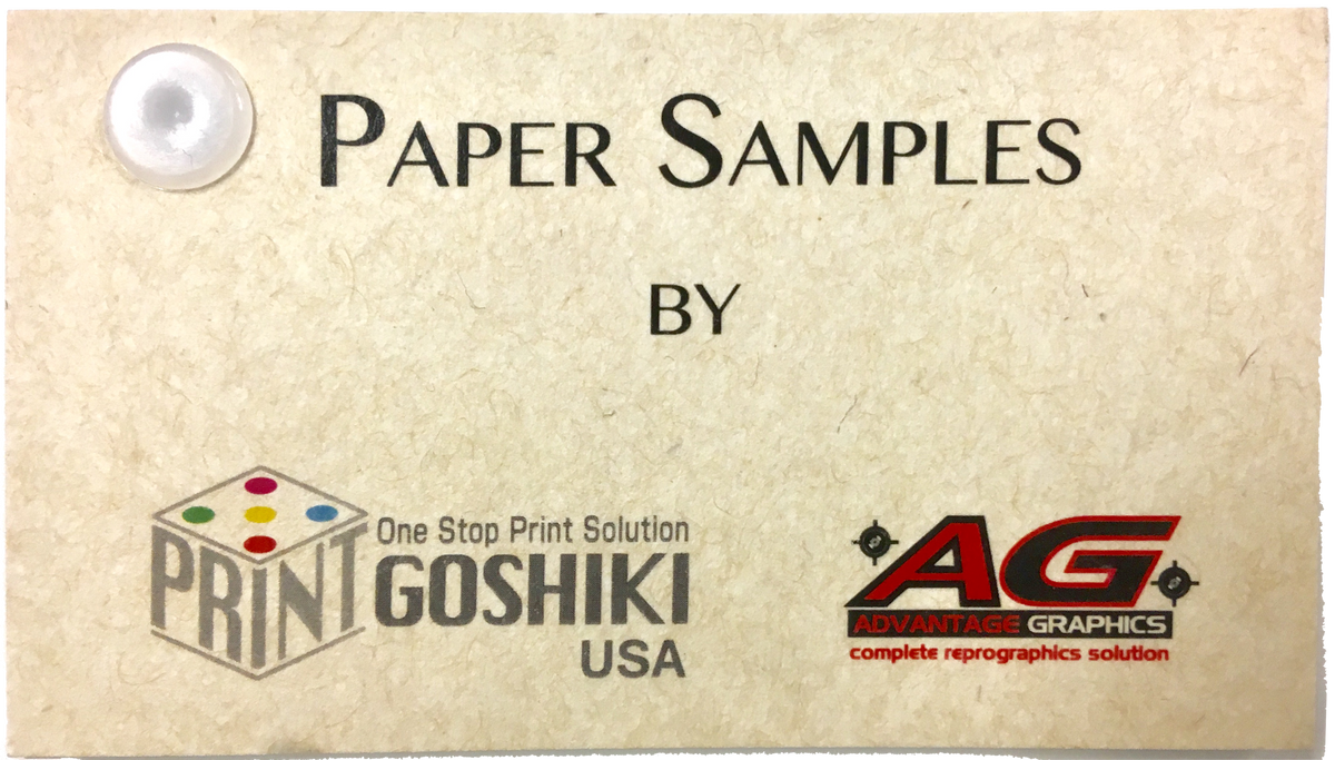 washi special paper business cards
