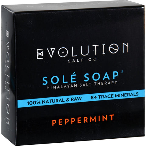 Evolution Salt Bath Soap - Sole - Peppermint - 4.5 oz