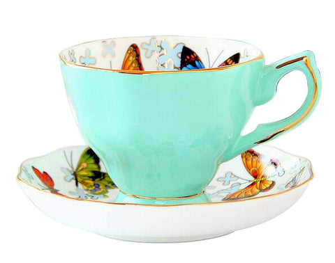 [A] Exquisite Demitasse Cup Coffee Cup Espresso Cup and Saucer