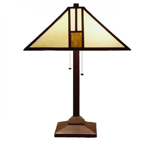 Warehouse of Tiffany Tiffany-style White Mission-style Table Lamp