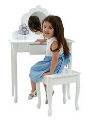 Medium Vanity & Stool Medium Diva Table & Stool