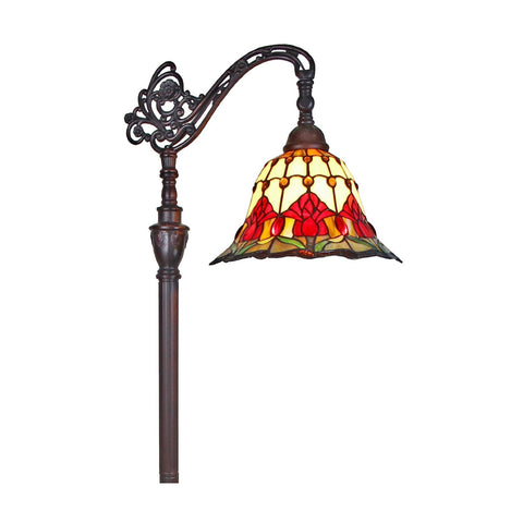 Amora Lighting Home Decorative AM073FL12 Tiffany Style Tulips Reading Floor Lamp 62""""