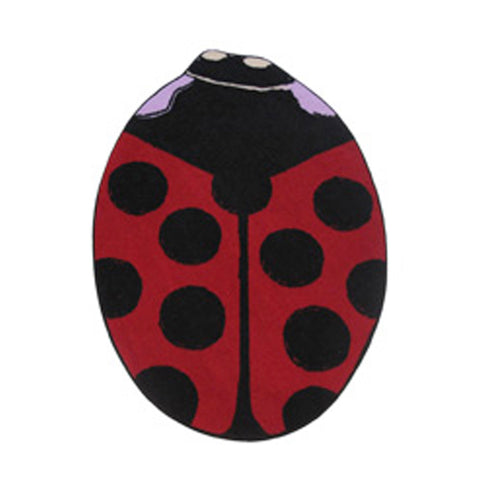 "Fun Rugs Fun Time Shape Red Lady Bug A Home Decorative Accent Area Rug 35""""X39"""""
