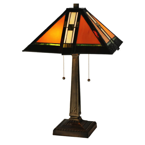 "Meyda 22""""H Montana Mission Table Lamp"