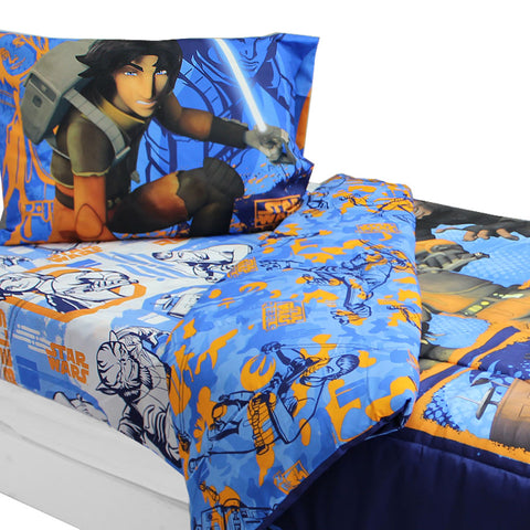 Star Wars Bedding Set Rebels Fight Comforter and Sheet Set: Full