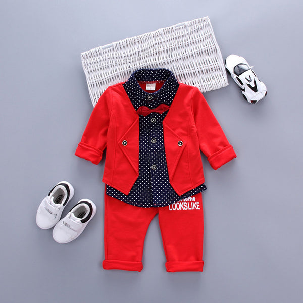 "Classy ""This Is What Awesome Looks Like"" 2-Piece Gentleman Outfit For Baby Boys"