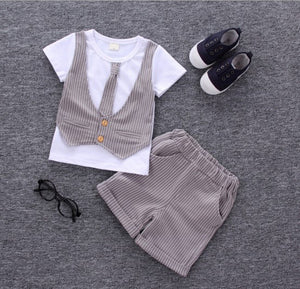 2-Piece Gentleman Clothing Set For Boys