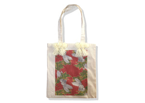 Tote bag rouge terre